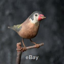 19th Century German Folk art Carved Birds