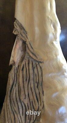 20 Cypress Knee Wood Spirit Gnome Old Man Hand Carved By Nc Artist J. D. Price