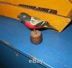 AAFA Early 1900s Antique Folk Art Hand Carved Wood Bird