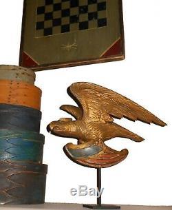 AAFA Folk Art Antique Pilot House Gild EAGLE hand carved wood New England