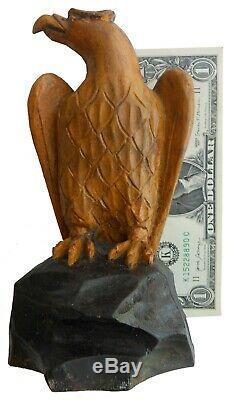 AAFA Late 1800s or Early 1900s Antique Folk Art Carved Wood Bird Federal EAGLE