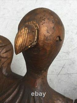Antique AAFA Folk Art Large Carved Wood Wooden Eagle Bible Book Stand Holder