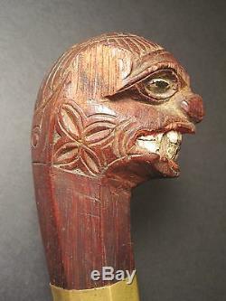 Antique Asian Philippine Bolo Tribal Primitive Sword Folk Art Carving Paint Wood