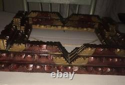 Antique Fits 8x10 Tramp Art Stack Folk Art Country Primitive Carved Wood Frame