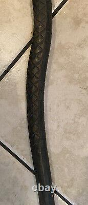 Antique Folk Art Hand Carved Wood Life-Size SNAKE Carving Walking Cane Stick