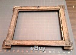 Antique German Tramp Art Chip Carved Picture Frame Handmade Folk Art