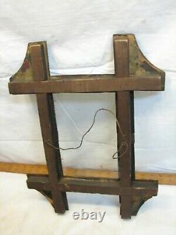 Antique Hand Carved Tramp Art Picture Photo Frame Folk Art Wooden Cigar Box