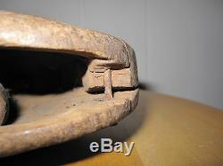 Antique Primitive Folk Art Wood Carving Possibly Native American Artifact Decor