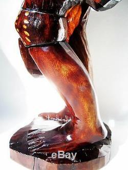 Antique Primitive Statue Folk Art Carving Sculpture Black Americana Collectible