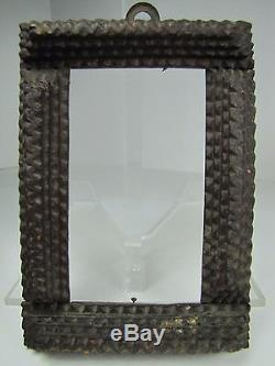 Antique Tramp Art Frame hand carved ornate layered small decorative folk art