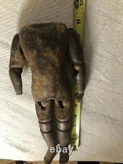 Antique Wood Carved Articulated Jointed Folk Art Doll Mannequin BODY ONLY As Is