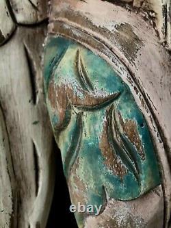 Antique hand carved Winged Angel Cherub Folk Art ARTEMIS Putti Figure 14 Tall