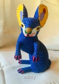 Armando & Antonia Jimenez Rabbit Alejibre Mexican Folk Art /Oaxacan Wood Carving