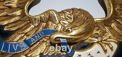 Artistic Carving Company Of Boston Gilt And Polychrome Carved Eagle