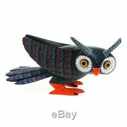 BEAUTIFUL OWL Oaxacan Alebrije Wood Carving Fine Mexican Folk Art Sculpture