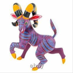BIGHORN SHEEP RAM Oaxacan Alebrije Wood Carving Fine Mexican Folk Art Sculpture