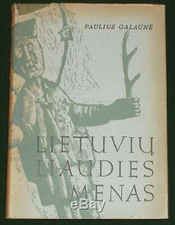 BOOK RARE Lithuanian Folk Art wood architecture carving ethnic eggs Galaune 1956