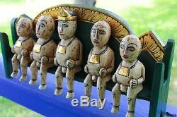 Balinese Agung Family Bali Folk Art Figures statue handmade wood carving
