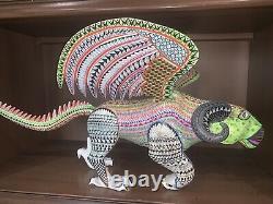 COCO Inspired Handmade Alebrije Oaxacan Wood Carving Painted Folk Art