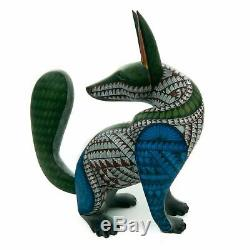 COYOTE Oaxacan Alebrije Wood Carving Mexican Folk Art Sculpture Nestor Melchor