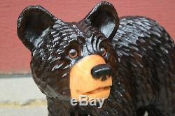 Chainsaw Carving Bear Wood Sculpture Folk Art
