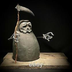Chainsaw Carving, Wood Carving, Halloween Decor, Grim Reaper, SHRUM