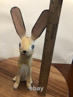 David Alvarez Jack Rabbit Wood Carved Folk Sculpture Figurine Signed 11 Tall