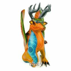 Deer & Eagle Fusion Oaxacan Alebrije Wood Carving Nestor Melchor