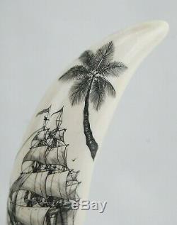 Fine Scrimshaw Hand Carved Maritime Folk Art by Doug Fine 4