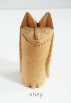 George Lopez Cordova Carving New Mexico Folk Art Master Animal Sculpture