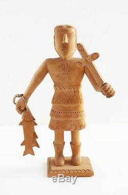 George Lopez Cordova Carving New Mexico Folk Art Master Bulto Santo Sculpture