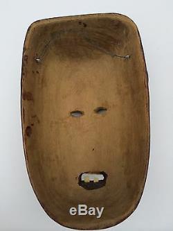 Guatemalan Hand Carving Guatemala folks art Wood Mask. Red Devil detailed