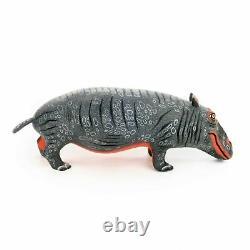HIPPO Oaxacan Alebrije Animal Wood Carving Mexican Art Sculpture Eleazar Morales