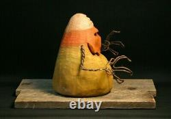 Halloween Rotten Candy Corn Wood Carving, Chainsaw Carving, Wood Art, SHRUM
