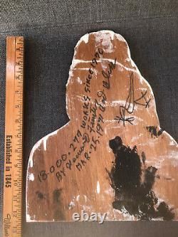 Howard Finster ORIGINAL SIGNED Wood Cutout Jesus Figure 1991 Outsider Folk Art