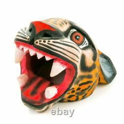 JAGUAR Oaxacan Alebrije Wood Carving Mexican Art Sculpture by Eleazar Morales