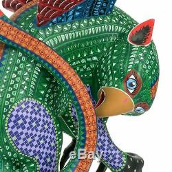 LARGE GRIFFIN BIRD Oaxacan Alebrije Carving Mexican Folk Art Sculpture Painting