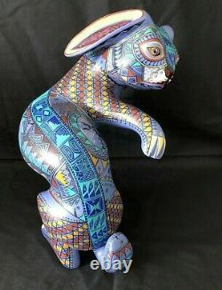 Large 13 Carved Rabbit Jacobo & Maria Angeles Oaxaca Mexico Fine Paint Detail