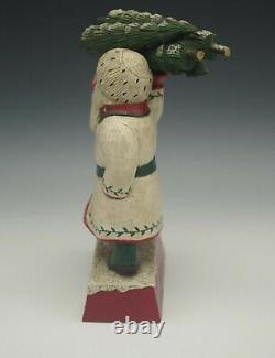 Leo R Smith Folk Art Limited Edition 25/1000 Snow King Santa Carving 9 Rare