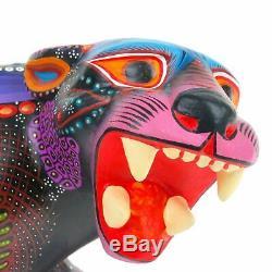 MAJESTIC JAGUAR Oaxacan Alebrije Wood Carving Fine Mexican Folk Art Sculpture