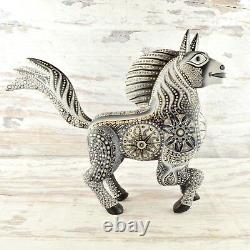 Magia Mexica A1601 Horse Alebrije Oaxacan Wood Carving Painting Handcrafted