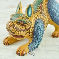 Magia Mexica A1998 Dog Alebrije Oaxaca Wood Carving Handcraft