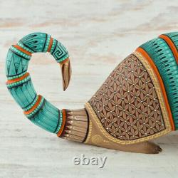 Magia Mexica A2063 Armadillo Alebrije Oaxaca Wood Carving Handcraft