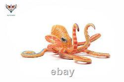 Marakame Oaxaca Alebrije Octopus Nisdo' mrax Hand painted wood carving