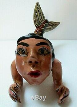 Mexican Folk Art Carved Wood Hanging Mermaid Angel Guerrero Nautical Decor 15