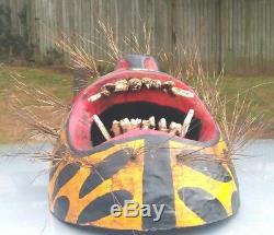 Mexican Hand Carving Wood mask Jaguar / tigre, Mexico Folks art dancing mask