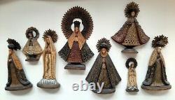 Mexican folk art wood carvings 8 Madonna / Nuestra Senoras statues
