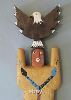 Navajo Folk Artist Harold Willeto, Carved Painted Male Yei Figure, 1994