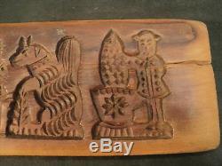 Nice Primitive FOLK ART Carved Wood COOKIE PRESS