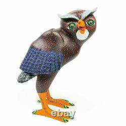 OWL Oaxacan Alebrije Wood Carving Handcrafted Mexican Folk Art Sculpture
